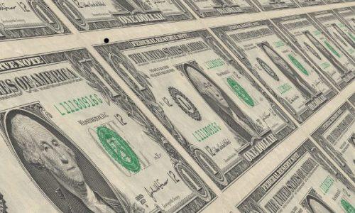 Tiled sheet of $1 Bills