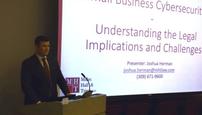 Joshua Herman presents small business cyber security seminar